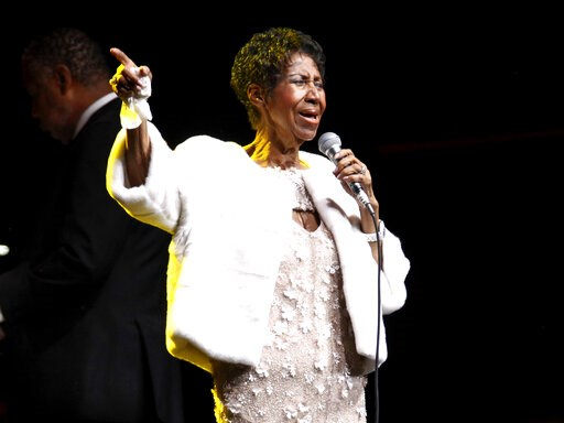 (Photo by Andy Kropa/Invision/AP, File). FILE - In this Nov. 7, 2017 file photo, Aretha Franklin attends the Elton John AIDS Foundation's 25th Anniversary Gala in New York. Franklin is still getting R.E.S.P.E.C.T. after death: The Queen of Soul receive...