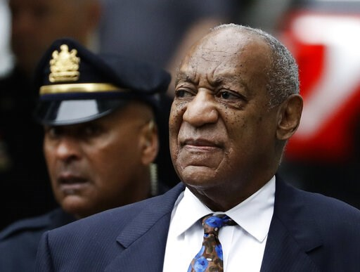 (AP Photo/Matt Slocum, File). FILE - In this Sept. 24, 2018 file photo Bill Cosby arrives for his sentencing hearing at the Montgomery County Courthouse in Norristown, Pa. The Imprisoned actor says his insurance company is settling another lawsuit file...