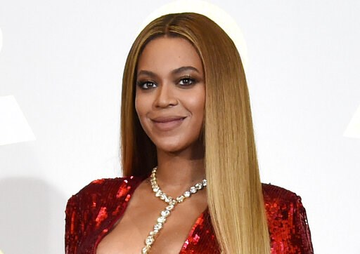 "(Photo by Chris Pizzello/Invision/AP, File). FILE - In this Feb. 12, 2017 file photo, Beyonce poses in the press room at the 59th annual Grammy Awards in Los Angeles.  Beyonce has released a soundtrack to her Netflix documentary ""Homecoming,"" called ""H..."