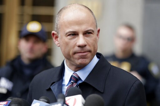 (AP Photo/Julio Cortez, File). FILE - In this Dec. 12, 2018, file photo, attorney Michael Avenatti, speaks outside court in New York.An indictment filed against Avenatti, Wednesday, April 10, alleges he stole millions of dollars from clients, didn't pa...