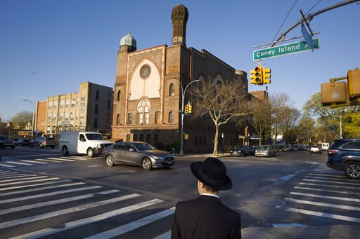 (AP Photo/Mark Lennihan, File). FILE- In this April 26, 2018 file photo, a Jewish boy walks to a yeshiva in the Brooklyn borough of New York. On Thursday, April 18, 2019, a judge has struck down New York State Education Department guidelines for ensuri...