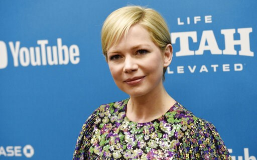 "(Photo by Chris Pizzello/Invision/AP, File). FILE - In this Jan. 24, 2019, file photo, Michelle Williams, a cast member in ""After the Wedding,"" poses at the premiere of the film on the opening night of the 2019 Sundance Film Festival in Park City, Utah..."