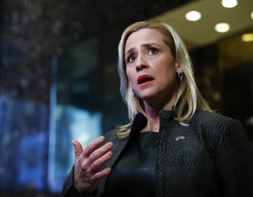 (AP Photo/Carolyn Kaster, File). FILE--In this Thursday, Nov. 17, 2016, file photo, Arkansas Attorney General Leslie Rutledge speaks to reporters at Trump Tower, in New York. A federal lawsuit filed by death row inmates in Arkansas has renewed a court ...