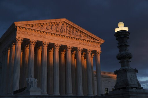 (AP Photo/J. Scott Applewhite, File). FILE - In this Jan. 24, 2019, file photo, the Supreme Court is seen at sunset in Washington. Vast changes in America and technology have dramatically altered how the census is conducted. But the accuracy of the onc...