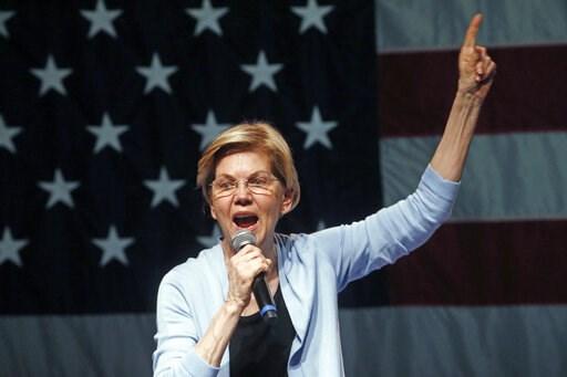 (AP Photo/Rick Bowmer). Democratic presidential candidate Sen. Elizabeth Warren, D-Mass., speaks during a campaign rally Wednesday, April 17, 2019, in Salt Lake City.
