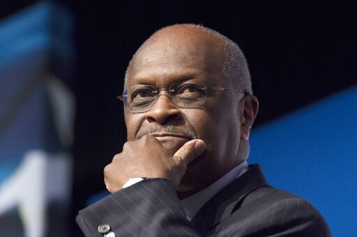 (AP Photo/Molly Riley, File). FILE - In this June 20, 2014 file photo, Herman Cain, CEO, The New Voice, speaks during Faith and Freedom Coalition's Road to Majority event in Washington. Trump says Herman Cain withdraws from consideration for Fed seat a...
