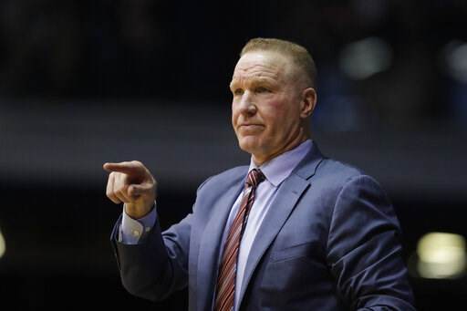 """(AP Photo/Darron Cummings, File). FILE - In this Saturday, Jan. 19, 2019,file photo, St. John's head coach Chris Mullin in action during the first half of an NCAA basketball game against Butler in Indianapolis. Chris Mullin has """"stepped down"""" as basket..."""