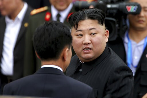 (AP Photo/Minh Hoang). In this March 2, 2019, photo, North Korean leader Kim Jong Un prepares to depart Dong Dang railway station in Dong Dang, Vietnamese border town. North Korea on Tuesday, April 23, confirmed that Kim will soon visit Russia to meet ...