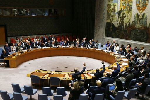 (AP Photo/Jason DeCrow, File). FILE - In this Sept. 11, 2017, file photo, The United Nations Security Council votes to pass a new sanctions resolution against North Korea during a meeting at U.N. headquarters. Some experts say North Korean Kim Jong Un ...