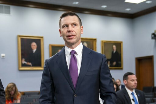 (AP Photo/J. Scott Applewhite). Acting-Homeland Security Secretary Kevin McAleenan prepares for a House Appropriations subcommittee hearing on his agency's future funding, on Capitol Hill in Washington, Tuesday, April 30, 2019. McAleenan, who is also t...