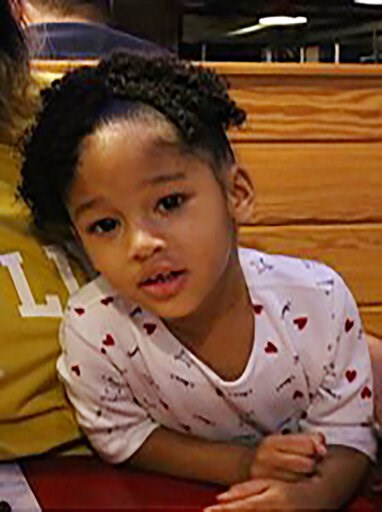 (Houston Police Department via AP). This undated photo released by the Houston Police Department shows Maleah Davis. Houston police are trying to determine what happened to the 4-year-old girl after the ex-fiance of her mother said she was taken by men...