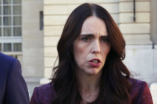 (AP Photo/Thibault Camus). New Zealand Prime Minister Jacinda Ardern gives a press conference, at the OECD headquarters, in Paris, Tuesday, May 14, 2019. The leaders of France and New Zealand will make a joint push to eliminate acts of violent extremis...