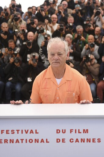(Photo by Arthur Mola/Invision/AP). Actor Bill Murray poses for photographers at the photo call for the film 'The Dead Don't Die' at the 72nd international film festival, Cannes, southern France, Wednesday, May 15, 2019.