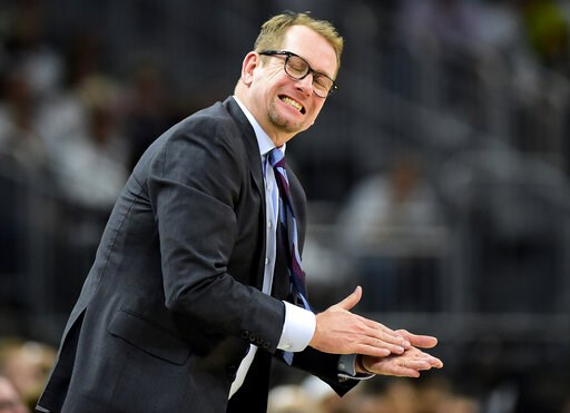 (Frank Gunn/The Canadian Press via AP). Toronto Raptors coach Nick Nurse reacts during the second half in Game 1 of the team's NBA basketball playoffs Eastern Conference final against the Milwaukee Bucks in Milwaukee on Wednesday, May 15, 2019.
