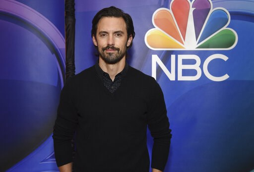 """(Photo by Evan Agostini/Invision/AP). Milo Ventimiglia, from the cast of """"This Is Us,"""" attends the NBC 2019/2020 Upfront at The Four Seasons New York on Monday, May 13, 2019."""