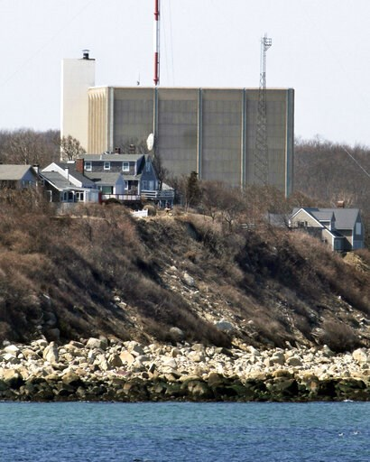 (AP Photo/Steven Senne, File). FILE - This March 30, 2011, file photo shows the Pilgrim Nuclear Power Station in Plymouth, Mass. A company that manufactures giant containers used to store spent radioactive fuel has signed a deal to purchase the plant, ...