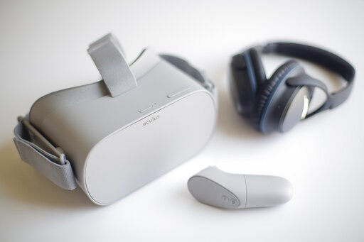 (AP Photo/Pablo Martinez Monsivais). Axon Immersion Training Virtual Reality (VR) headset, used in training police officers to learn the best way to interact with people who suffer with autism, Thursday, May 23, 2019 in Washington. Police officers are ...