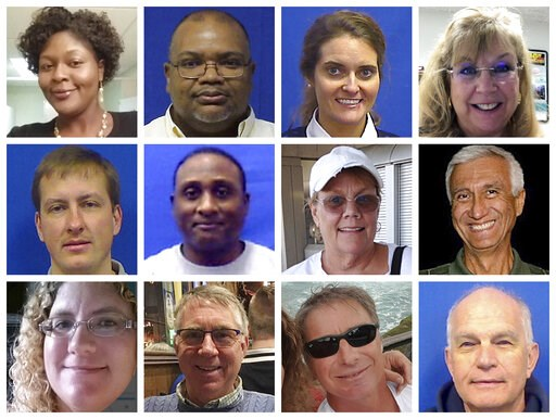 (Courtesy City of Virginia Beach via AP). This combination of photos provided by the City of Virginia Beach on Saturday, June 1, 2019 shows victims of Friday's shooting at a municipal building in Virginia Beach, Va. Top row from left are Laquita C. Bro...