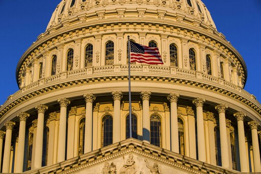 """(AP Photo/Alex Brandon, File). FILE - In this March 24, 2019, file photo, the U.S Capitol is seen at sunrise in Washington. Progressive groups are expressing """"deep disappointment"""" over House Democrats' failure to start impeachment proceedings against P..."""