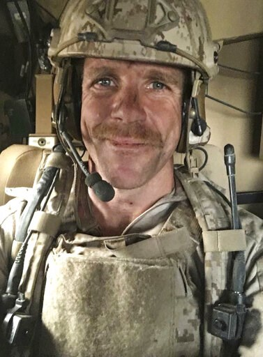 (Edward Gallagher via AP). This undated selfie photo provided by Andrea Gallagher shows her husband, Navy SEAL Edward Gallagher, who has been charged with murder in the 2017 death of an Iraqi war prisoner. Lawyers for Gallagher are seeking to have the ...