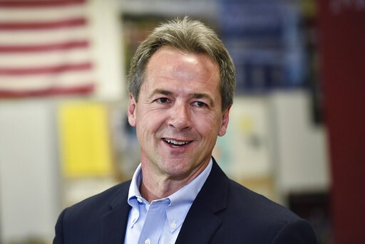(Thom Bridge/Independent Record via AP, File). File - In this May 14, 2019, file photo, Montana Gov. Steve Bullock, Democratic presidential candidate, officially announces his campaign for president at Helena High School in Helena, Mont. Gov. Bullock a...