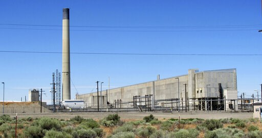 (AP Photo/Nicholas K. Geranios, File). FILE - This May 13, 2017, file photo, shows a portion of the Plutonium Finishing Plant on the Hanford Nuclear Reservation near Richland, Wash. The state of Washington believes the federal government is unlikely to...