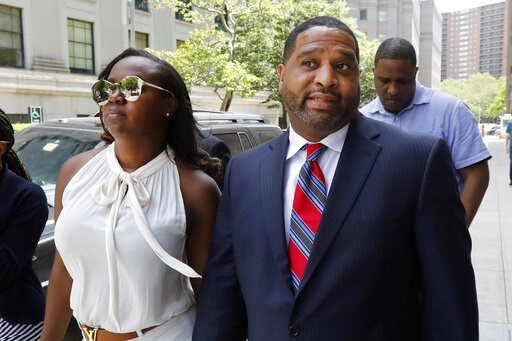 (AP Photo/Richard Drew). Former University of Arizona assistant men's basketball coach Emanuel Richardson leaves Manhattan federal court in New York, after he was sentenced on a bribery conspiracy charge in the college basketball recruiting scandal tha...