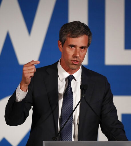 (AP Photo/John Bazemore). Democratic presidential candidate Beto O'Rourke speaks during the I Will Vote Fundraising Gala Thursday, June 6, 2019, in Atlanta.