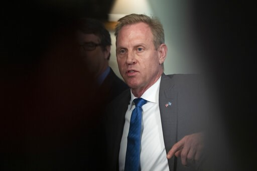 (AP Photo/Manuel Balce Ceneta). Acting Secretary of Defense Patrick Shanahan responds to reporters' questions regarding an incident in the East China Sea where an American guided-missile cruiser and a Russian destroyer came within 165 feet (50 meters) ...