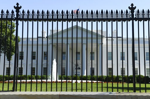 (AP Photo/Susan Walsh). The fence surrounding the White House on Pennsylvania Avenue in Washington, Friday, May 24, 2019. Approval was given for a new and taller fence around the White House complex in 2017 and now construction of a almost 13-foot tall...