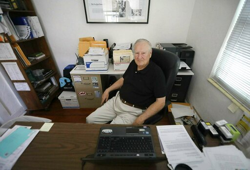 (Bruce R. Bennett/The Palm Beach Post via AP). In this Nov. 18, 2018, photo, Curtis Rogers, co-founder of GEDmatch, sits at his office in Lake Worth, Fla. The popular online genetics database used to find unknown relatives has tightened its policies fo...