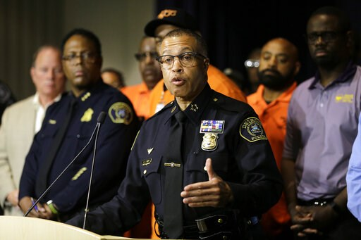 (Kimberly P. Mitchell/Detroit Free Press via AP). Detroit Police Chief James Craig answers questions during a press conference, Friday, June 7, 2019, at the Detroit Police Headquarters in Detroit, addressing the police response to a possible serial kil...