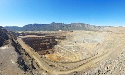 (JHL Capital Group LLC. via AP). This undated photo provided by JHL Capital Group LLC shows the Mountain Pass Mine in San Bernardino County, Calif. the only producer of rare earth minerals in the United States. Rising trade tensions have many people wo...