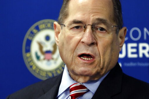 (AP Photo/Richard Drew). U.S. Rep. Jerrold Nadler, D-NY, Chairman of the House Judiciary Committee, speaks during a news conference, in New York, Wednesday, May 29, 2019.