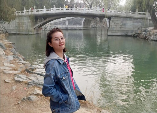 (Courtesy of the University of Illinois Police Department via AP). This undated photo provided by the University of Illinois Police Department shows Yingying Zhang. The parents of the visiting University of Illinois scholar who disappeared two years ag...