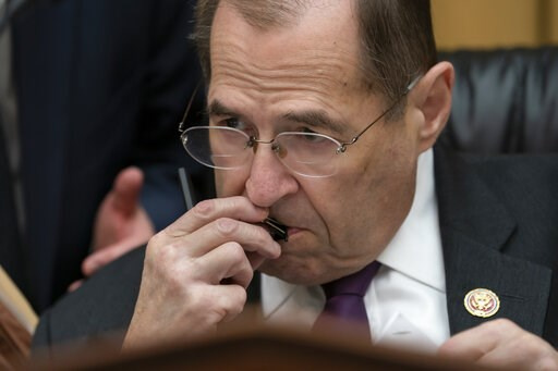 (AP Photo/J. Scott Applewhite). House Judiciary Committee Chairman, Rep. Jerrold Nadler, D-N.Y., listens during opening statements as as House Democrats start a hearing to examine whether President Donald Trump obstructed justice, the first of several ...