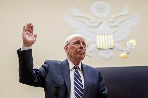 (AP Photo/Andrew Harnik). Former White House counsel for the Nixon administration John Dean is sworn in before a House Judiciary Committee hearing on the Mueller Report on Capitol Hill in Washington, Monday, June 10, 2019.