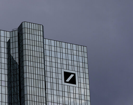(AP Photo/Michael Probst). Dark clouds cover the sky over the headquarter of Deutsche Bank in Frankfurt, Germany, Sunday, July 7, 2019. The supervisory board of the bank meets on Sunday to decide about further strategies.