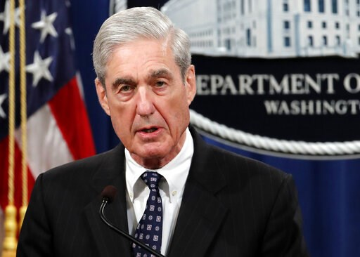 (AP Photo/Carolyn Kaster, File). FILE - In this May 29, 2019, file photo, special counsel Robert Mueller speaks at the Department of Justice in Washington, about the Russia investigation. To prepare for next week's high stakes hearing with Mueller, som...