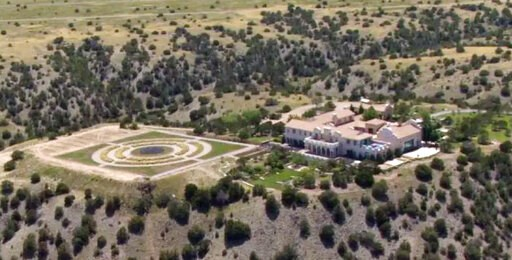 (KRQE via AP). Jeffrey Epstein's Zorro Ranch in Stanley, N.M. is shown Monday, July 8, 2019. Epstein is entangled in two legal fights that span the East Coast, challenging his underage sexual abuse victims in a Florida court hours after he was indicted...