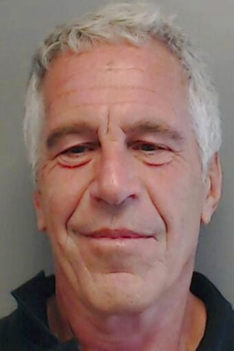 (Florida Department of Law Enforcement via AP, File). FILE - This July 25, 2013, file image provided by the Florida Department of Law Enforcement shows financier Jeffrey Epstein. Federal prosecutors, preparing for a bail fight Monday, July 15, 2019, sa...