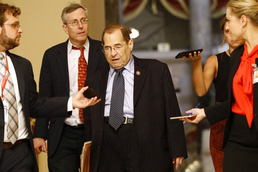 (AP Photo/Patrick Semansky). House Judiciary Committee Chair Jerrold Nadler, D-N.Y., walks to the House Chamber, Tuesday, July 16, 2019, on Capitol Hill in Washington.
