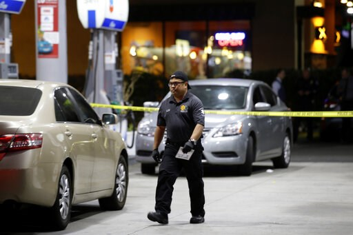(AP Photo/Alex Gallardo). Garden Grove police work the scene of a stabbing in Garden Grove, Calif., Wednesday, Aug. 7, 2019. A man killed multiple people and wounded others in a string of robberies and stabbings in California's Orange County before he ...