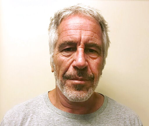 (New York State Sex Offender Registry via AP, File). FILE - This March 28, 2017, file photo, provided by the New York State Sex Offender Registry shows Jeffrey Epstein.  The retail titan behind Victoria's Secret says the financier Jeffrey Epstein misap...