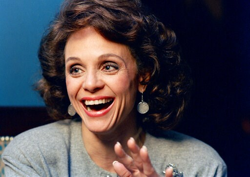 (AP Photo/Ron Frehm, File). FILE - In this Jan. 1987 file photo, Actress Valerie Harper laughs during an interview in New York. Valerie Harper, who scored guffaws and stole hearts as Rhoda Morgenstern on back-to-back hit sitcoms in the 1970s, has died,...
