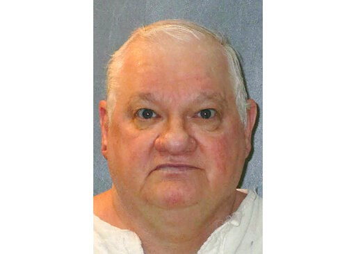 (Texas Department of Criminal Justice via AP). This undated photo provided by the Texas Department of Criminal Justice shows Billy Jack Crutsinger. Texas death row inmate Crutsinger is facing execution Wednesday, Sept. 4, 2019, for fatally stabbing an ...