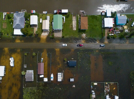 ( Mark Mulligan/Houston Chronicle via AP). According to Matagorda County Constable Bill Orton, Sargent received 22 inches of rain since Imelda started impacted the area on Tuesday. Photographed from above Sargent, Texas, Wednesday, Sept. 18, 2019.