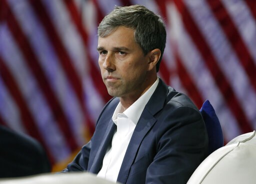 (AP Photo/John Locher, File). FILE - In this Wednesday, Oct. 2, 2019 file photo, Democratic presidential candidate and former Texas Rep. Beto O'Rourke listens during a gun safety forum in Las Vegas. Democrat Beto O'Rourke has announced he's dropping hi...