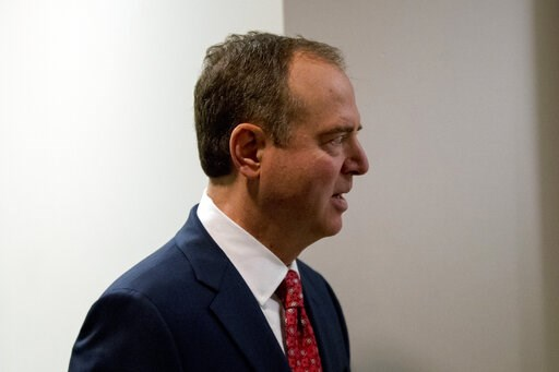 (AP Photo/Andrew Harnik). Rep. Adam Schiff, D-Calif., Chairman of the House Intelligence Committee, arrives at a closed door meeting on the ongoing House impeachment inquiry into President Donald Trump on Capitol Hill in Washington, Tuesday, Nov. 5, 20...