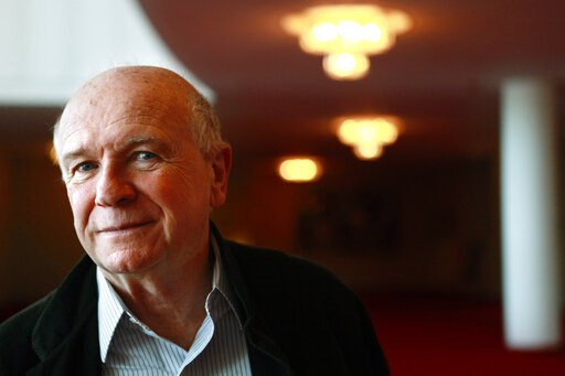 (AP Photo/Jacquelyn Martin, File). FILE - In this April 1, 1010, file photo, playwright Terrence McNally poses at the Kennedy Center in Washington. McNally, one of America's great playwrights whose prolific career included winning Tony Awards for the p...